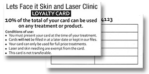 lets face it skin and laser clinic gift voucher